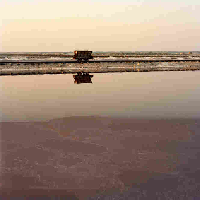 Salt ponds in India