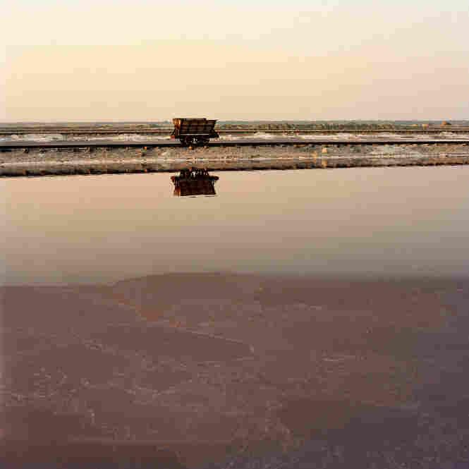 Salt ponds in India