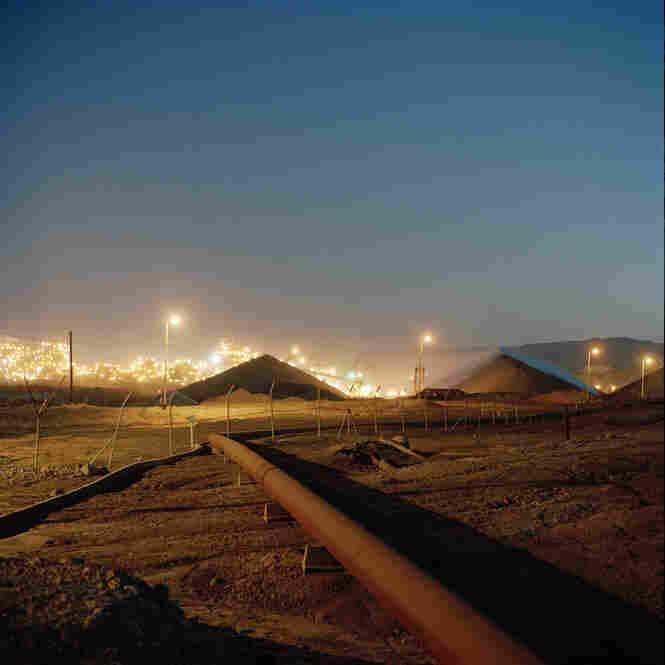 Industrial salt plant on the Dead Sea, Israel
