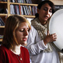 Marketa Iglova and Aida Shahghasemi perform a Tiny Desk Concert at the NPR Music offices on October 4, 2011.