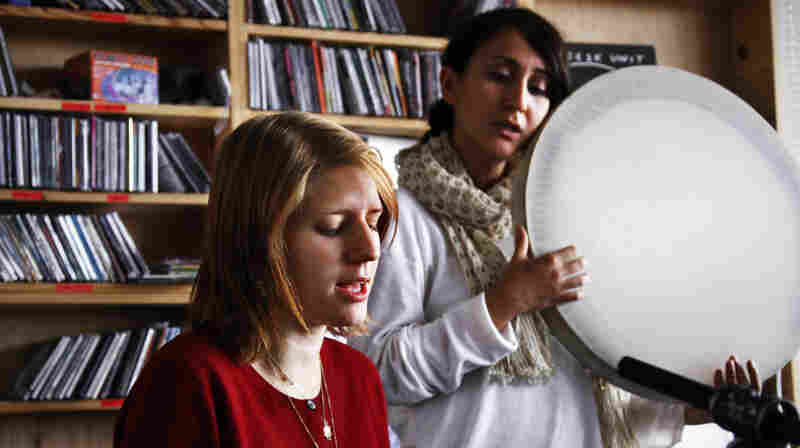 Marketa Iglova and Aida Shahghasemi perform a Tiny Desk Concert at the NPR Music offices on October 4, 2011.