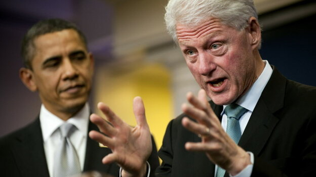 Former President Clinton and President Obama at the White House; December 10, 2010.