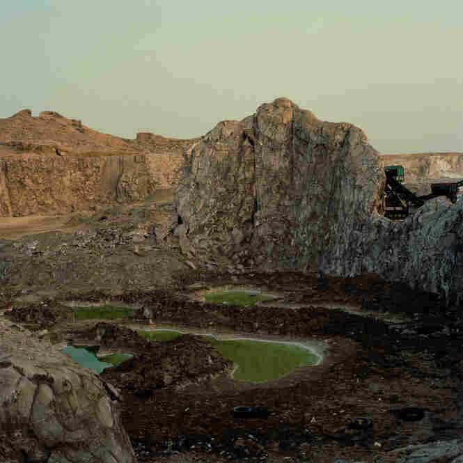 Salt mining near Hodeida, Yemen