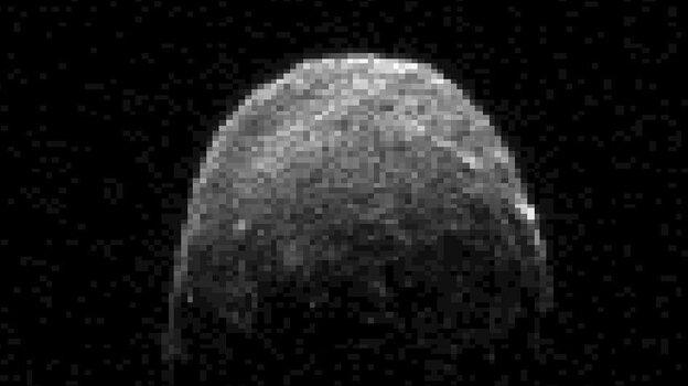 This radar image of asteroid 2005 YU55 was obta