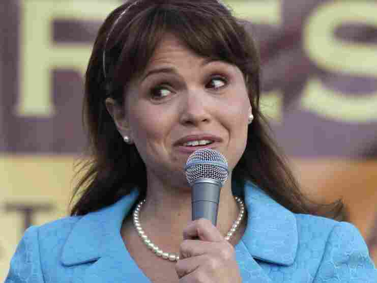 Delaware Republican Senate candidate Christine O'Donnell delivers remarks at the Tea Party Express rally in 2010. Some say Republicans threw away votes by nominating ultra-conservative O'Donnell.