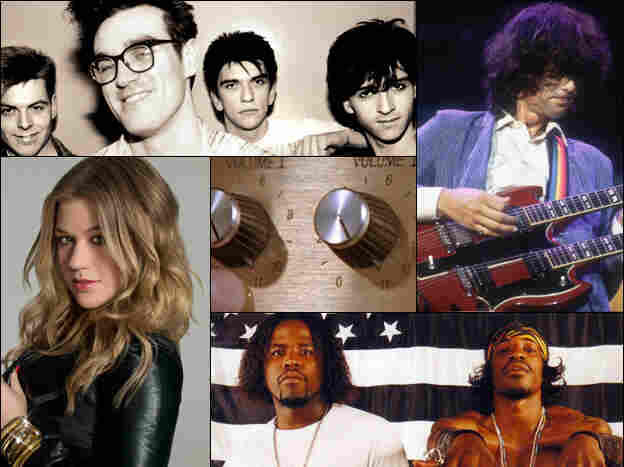 Clockwise from top left: The Smiths, Led Zeppelin, OutKast, Kelly Clarkson, Spinal Tap's secret weapon.