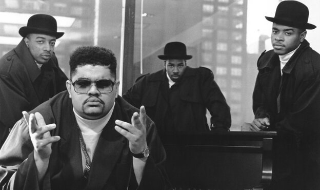 Heavy D (second from left) and The Boyz, circa 1990.