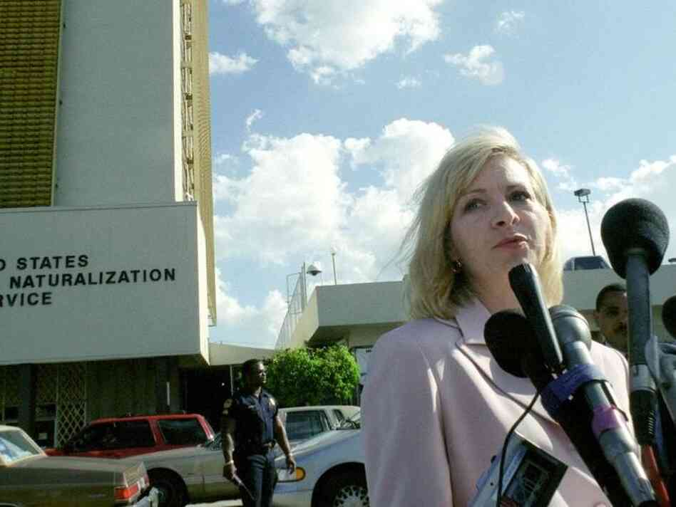 Cain accuser and longtime government employee Karen Kraushaar once worked as a spokesperson for the Immigration And Naturalization. She offered a statement after meeting with the Miami family of Elian Gonzalez in March of 2000.