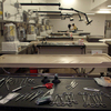 Autopsy and embalming tables are seen at the mortuary at Dover Air Force Base in Dover, Del.