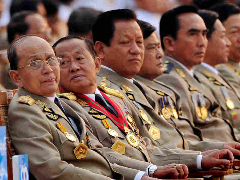Myanmar President Thein Sein (shown here in March 2010, left) has promised change, but some fear that he's a puppet of the repressive military leadership. He pleased many onetime critics by suspending construction on a controversial dam.