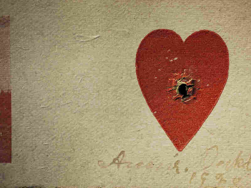 Annie Oakley was known to demonstrate her marksmanship by shooting through the center of a small heart on a card. See more photos from Annie Leibovitz's new book on NPR's Picture Show blog.