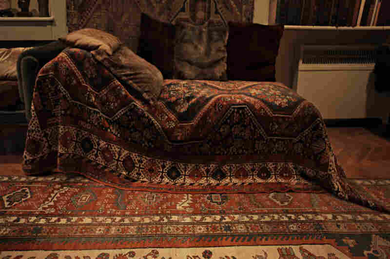 Sigmund Freud's couch at his study in London.