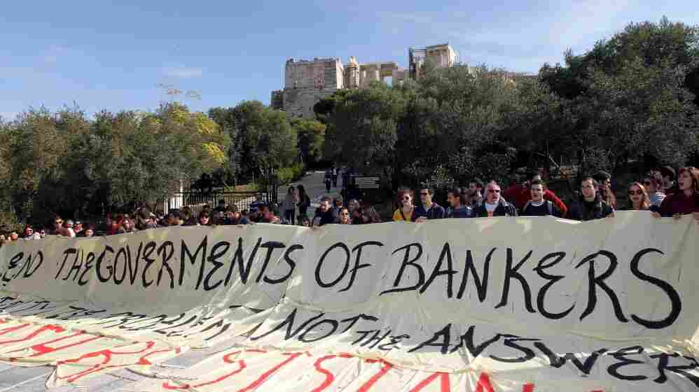 Greek demonstrators protest in Athens on Nov. 8. Similar economic crises in Argentina and Uruguay a decade ago may be instructive for Greece today.