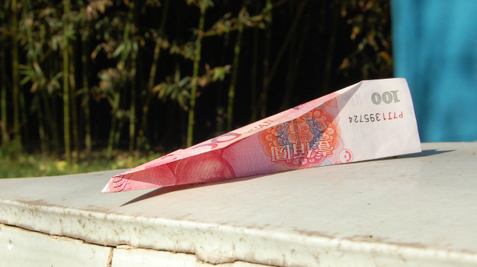 Last week, supporters delivered donations over the wall of Ai's compound in Beijing — 100 yuan notes folded into paper airplanes. (NPR)