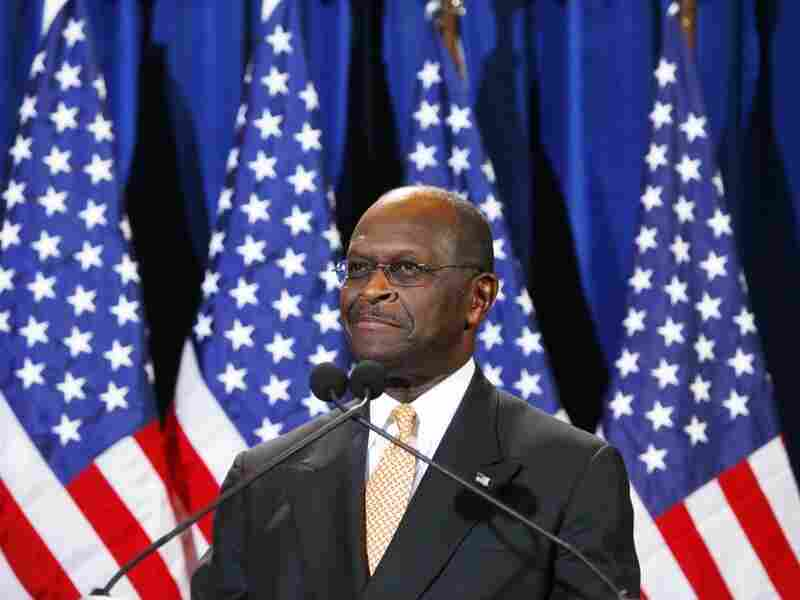 Republican presidential candidate and former Godfather's Pizza CEO Herman Cain speaks at a press conference Nov. 8, 2011 in Scottsdale, Arizona.