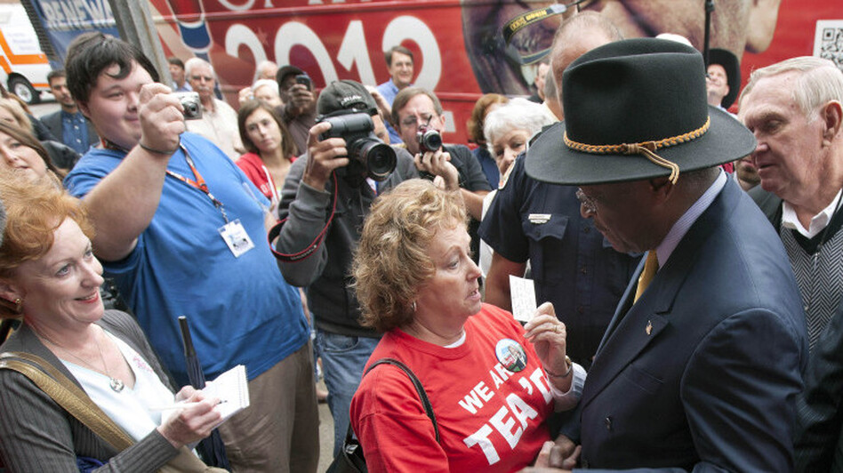 Republican presidential candidate Herman Cain met with supporters in Talladega, Ala., on Oct. 28, before allegations of sexual harassment against him surfaced.