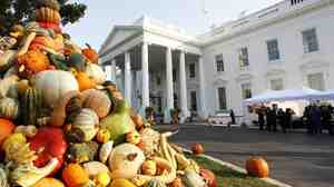 "Thanksgiving At The White House: First families have a lot to be thankful for — including the world-class chefs who make their food. Susan Stamberg shares her mother-in-law's cranberry relish recipe with two veteran presidential chefs. They say it reminds them of the infamous ""cheddar cheese ring"" from the Carter administration."