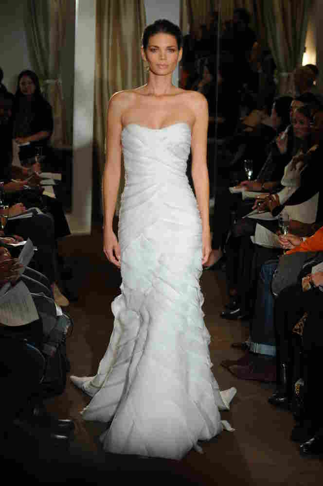 One of Kevan Hall's latest bridal gowns.