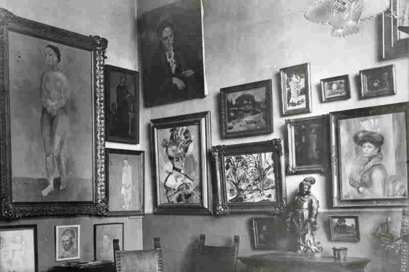 The family collected works by Pablo Picasso, Henri Matisse, Paul Cezanne and others who, as the 20th century progressed, would be recognized as masters. Above, a corner of Gertrude and Leo Stein's apartment, circa 1908-09;