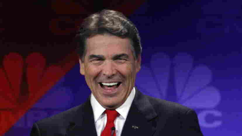 """Texas Gov. Rick Perry was searching for the words """"Department of Energy"""" during the CNBC debate Wednesday night in Auburn Hills, Mich."""