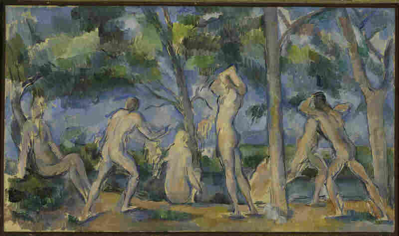 The Steins didn't have a lot of money, but they spent what they had on art. Gertrude and Leo Stein purchased Paul Cezanne's 1898-1900 Bathers for 150 francs in 1904.