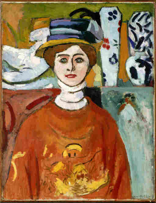 """The Steins supported modern artists who were considered scandalous at the turn of the century. In 1911, the San Francisco Examiner stated, """"Matisse paints faces crazed by absinthe drinking,"""" in reference to his 1908 work, The Girl with Green Eyes."""