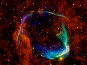 Astrophysicist Saul Perlmutter analyzed the brightness coming from supernovae, like the one pictured above, to measure how fast the universe is expanding.