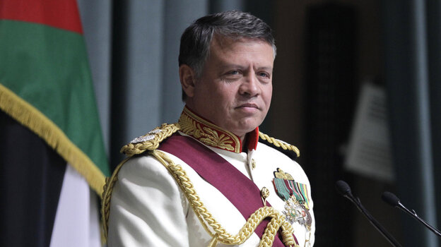Jordan's King Abdullah II prepares to address parliament on Oct. 26. Like other Arab monarchs, the king has introduced limited changes in response to the uprisings in the Arab world this year.