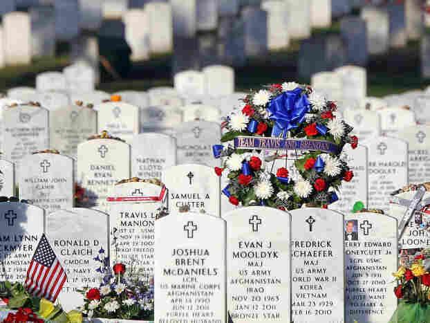 At Arlington National Cemetery.