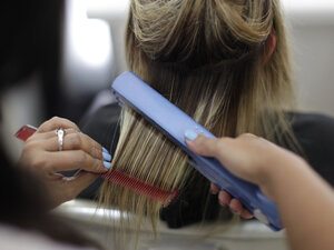 Some treatments to straighten hair rely on formaldehyde, which can irritate the skin and lungs. It's also carcinogenic.