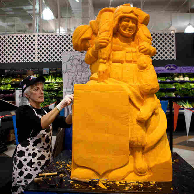 Sarah Kaufmann has been carving cheese professionally for three years.