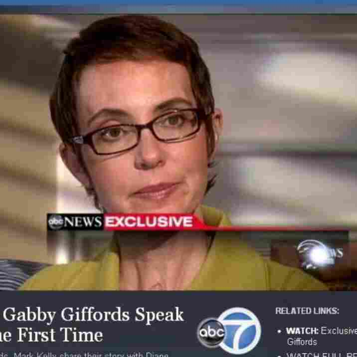 Rep. Gabrielle Giffords (D-Ariz.) during her interview with ABC News.