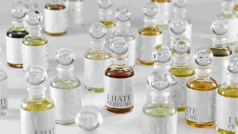 """A Labor of Love: For his """"I Hate Perfume"""" collection, Christopher Brosius blends and bottles all of his scents by hand in his workshops. The process may be labor-intensive, but it allows him to create singular scents that can't be mass-produced."""