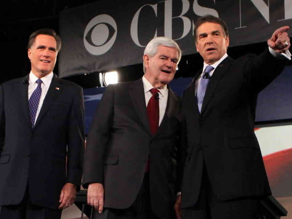 Republican presidential candidates jockeyed for airtime when they met for their first prime time TV debate on Saturday night in South Carolina.