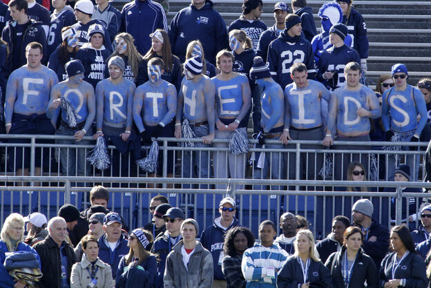 Penn State students show their solidarity at the university's last home game of the season — and the first without legendary coach Joe Paterno.