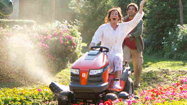Adam Sandler (as Jill, left) with Eugenio Derbez (Felipe) in Jack & Jill.