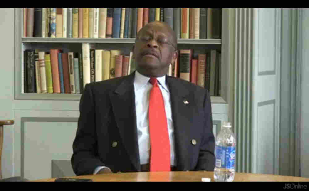 Herman Cain searches for a Libya answer.
