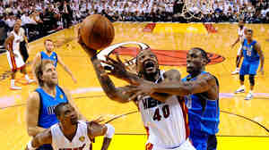 Fans may not see this kind of action for a long while: Chris Bosh of the Miami Heat as he drove to the basket in last season's finals against the Dallas Mavericks.