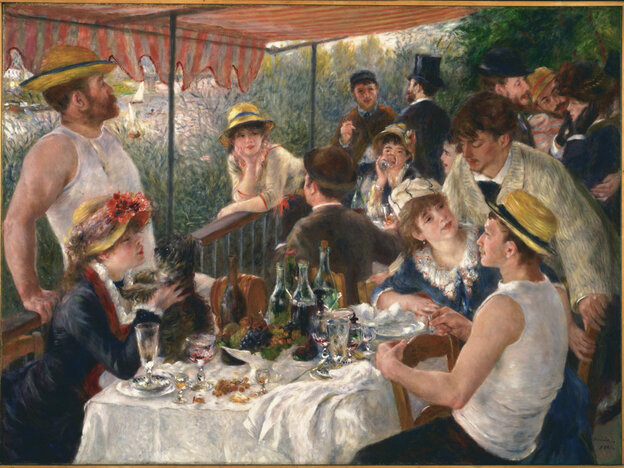 """""""Luncheon of the Boating Party"""" painted in 1881 by Pierre-Auguste Renoir"""