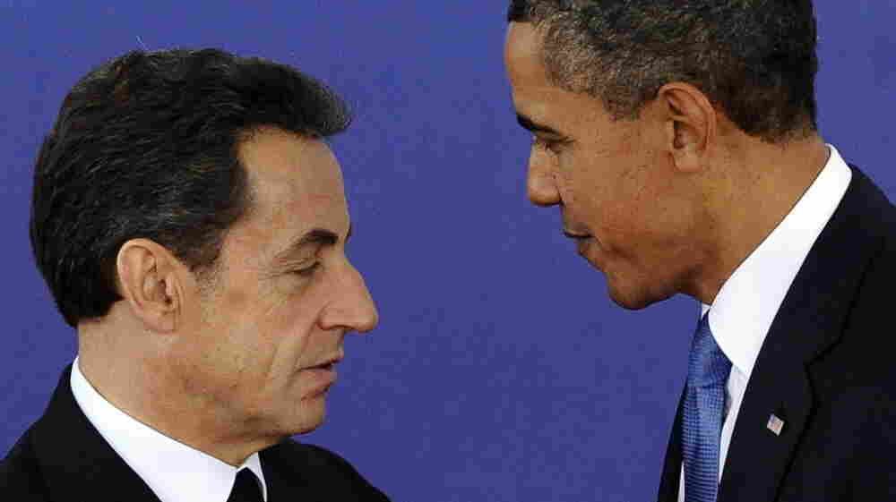 President Obama, right, and French President Nicolas Sarkozy last Thursday in Cannes, France.