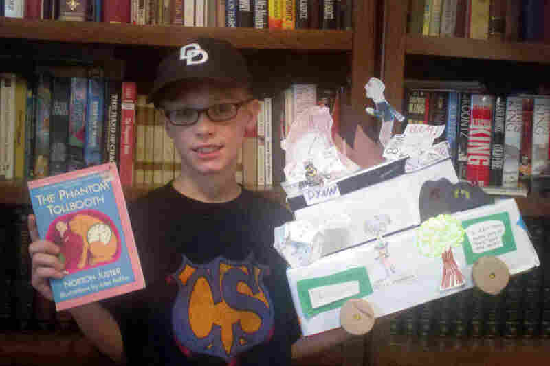 Thomas Bedell, 9, of Milford, Pa., read The Phantom Tolbooth last year and made a float about the book for his school reading parade. He says he's curious to know how author Norton Juster came up with the creative character names.