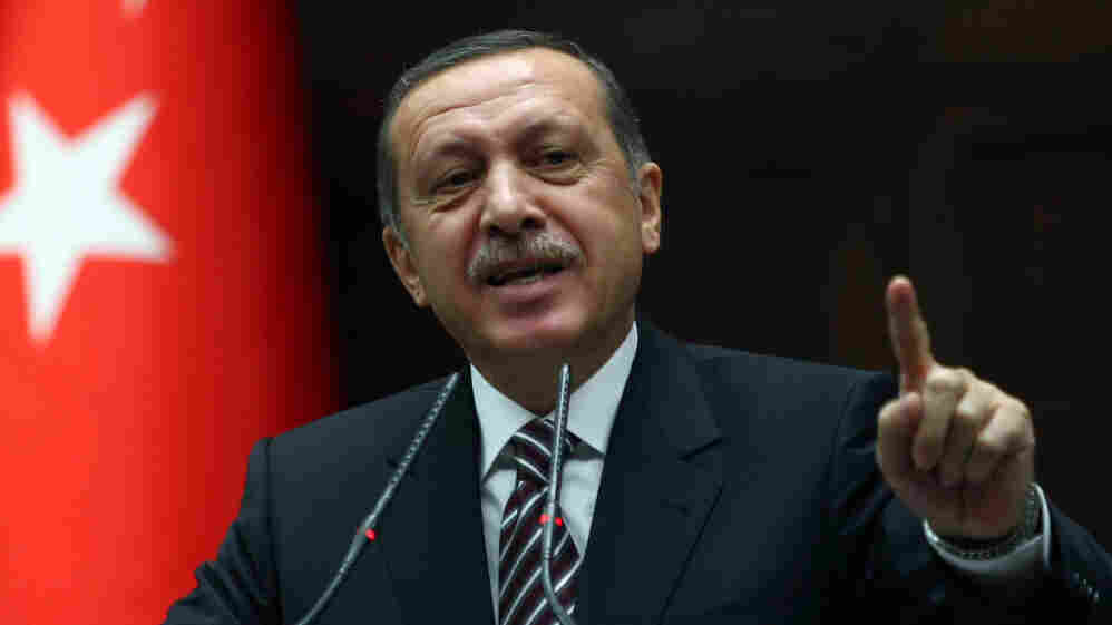 Turkey's Prime Minister Recep Tayyip Erdogan said Turkey does not expect anymore Syria to re
