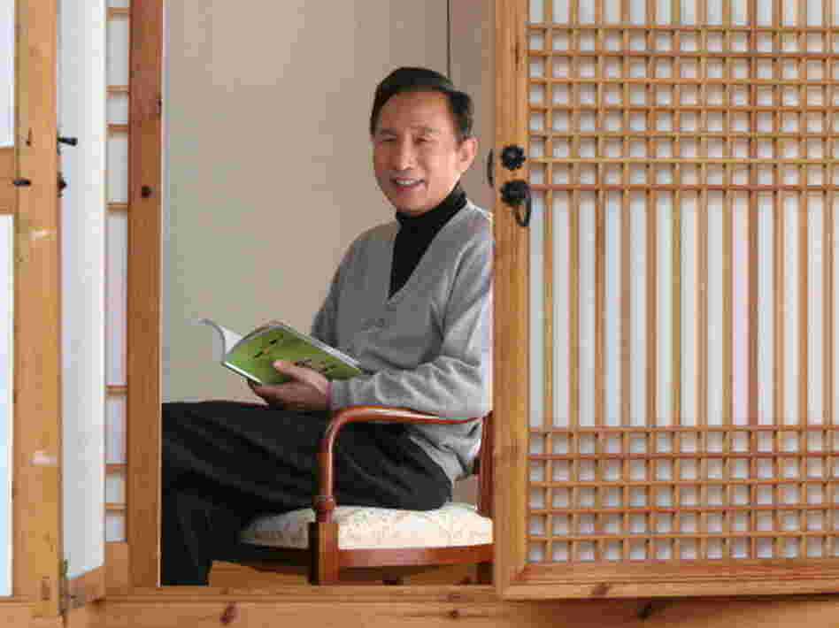 Lee (photographed here in a traditional Korean house, or hanok) says he has donated most of his money to a charitable foundation he founded; Lee may follow up his presidency with a career in philanthropy.