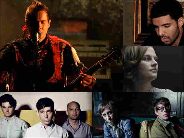 Clockwise from top left: Jonsi, Drake, Olof Arnalds, The Black Keys, The Antlers.