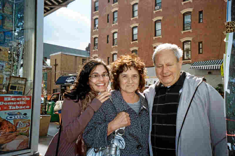 A family stopped on the corner of Bedford Avenue and North 7th Street in Williamsburg to take a shot for my project.