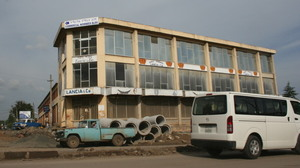 Sammi was left in this abandoned building in Addis Ababa, Ethiopia, when he was just a few days old.