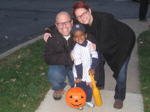 Brian and Regan Franklin adopted their son, Sammi, from Ethiopia in 2009. The family is ready to adopt another child from the African nation — but is finding it increasingly difficult. Here, the family celebrates Halloween this year.