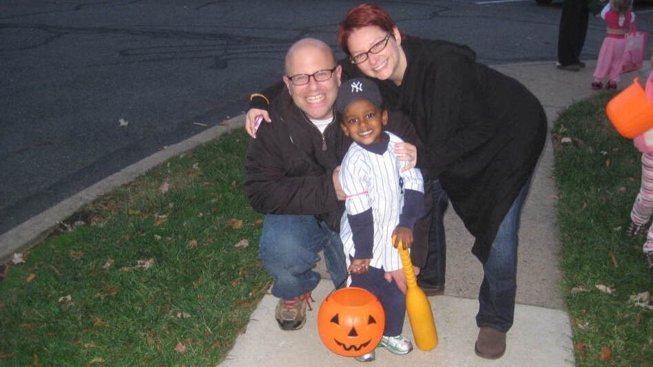 Brian and Regan Franklin adopted their son, Sammi, from Ethiopia in 2009. The family is ready to adopt another child from the African nation — but is finding it increasingly difficult. Here, the family celebrates Halloween this year. (Courtesy of the Franklin family)