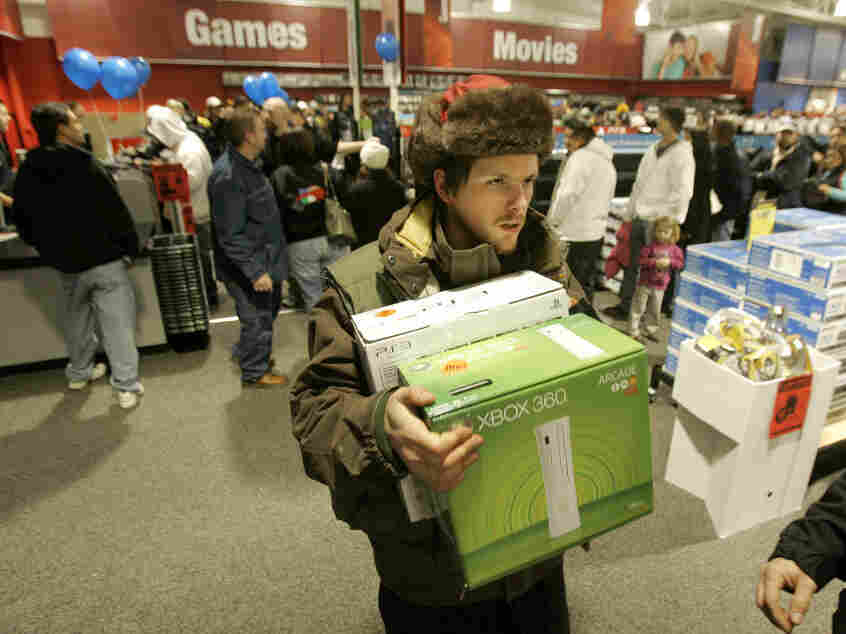 Black Friday shopper.