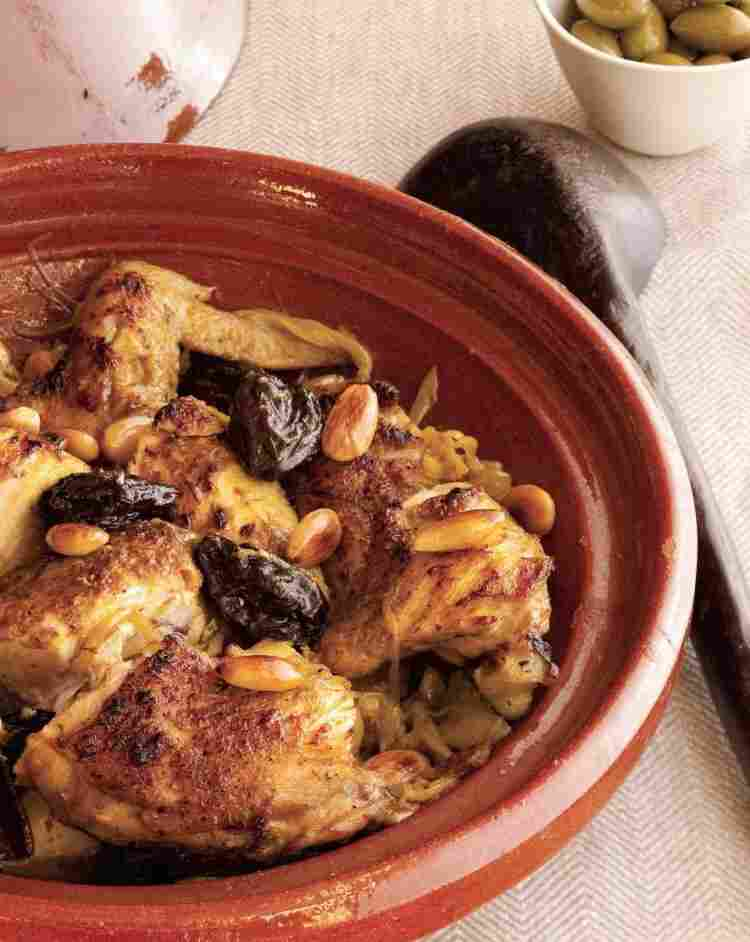 'Chicken Tagine with Prunes and Almonds'